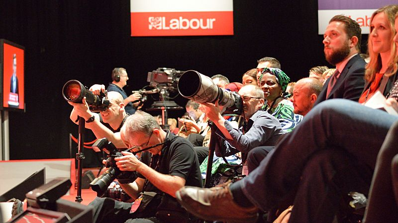 Press photographers, 2016 Labour Party Conference