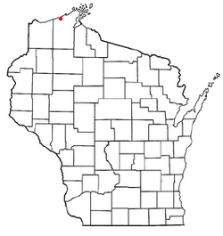 Location of Port Wing, Wisconsin