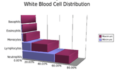 White blood cell distribution