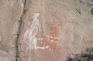 Aboriginal rock art, Nourlangie Rock, Kakadu - panoramio