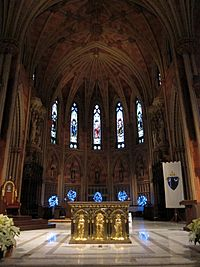 Cathedral of the Immaculate Conception (Albany, New York) - interior, sanctuary decorated for Christmas