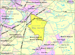 Census Bureau map of Chesterfield Township, New Jersey