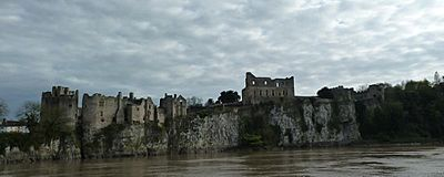 Chepstow Castle from North bank