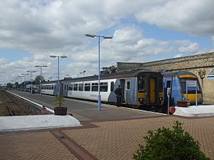 Diesel Multiple Units stand at Lowestoft - geograph.org.uk - 1460645