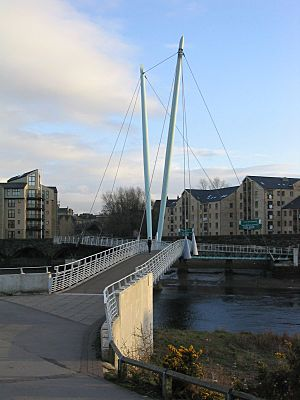 Lune Millennium Bridge from northern bank