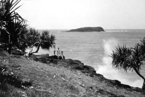 Queensland State Archives 1932 View of Cook Island from Fingal Head near Tweed Heads Tweed Shire c 1934