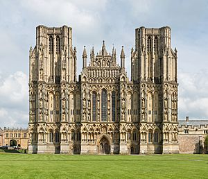 Wells Cathedral West Front Exterior, UK - Diliff